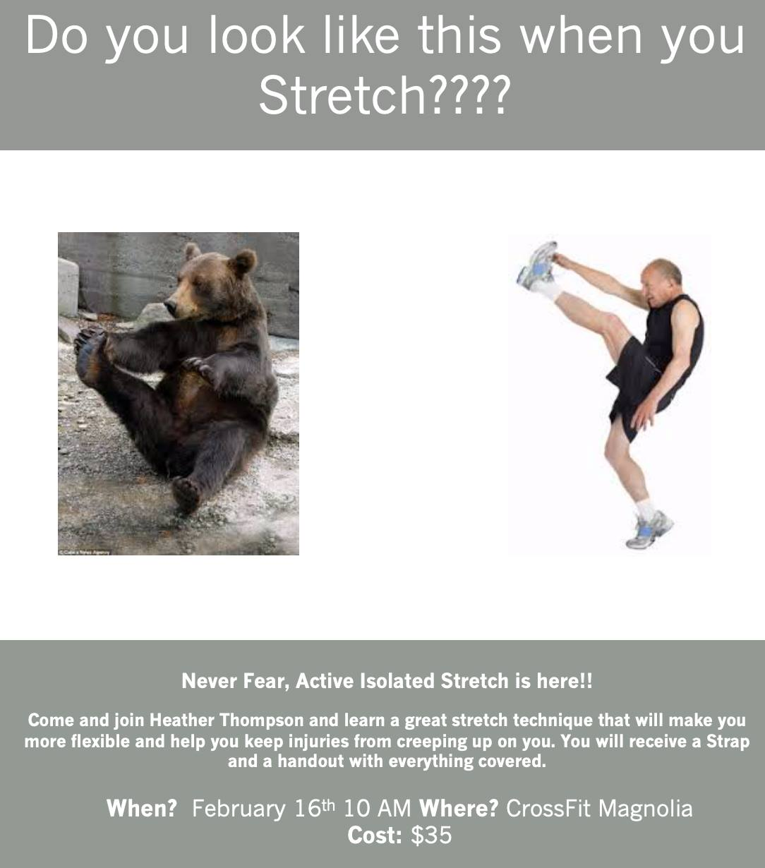 Active Isolated Stretch Workshop
